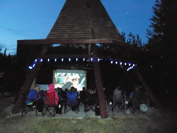 Movie Night in the Great Tee-Pee Theatre